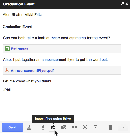 Gmail and Drive - a new way to send files | Official Gmail Blog