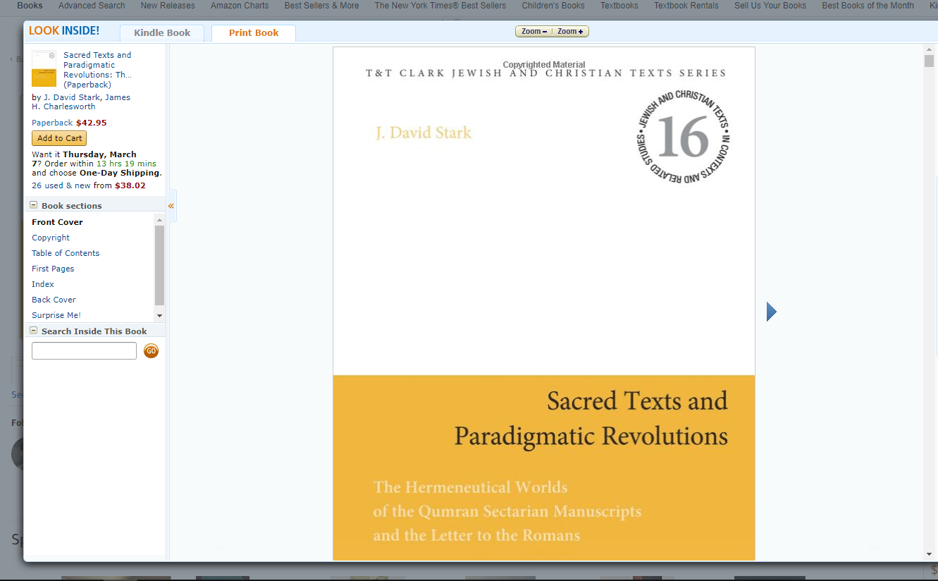 "Example preview after clicking the ""Look inside"" option on an Amazon book page"
