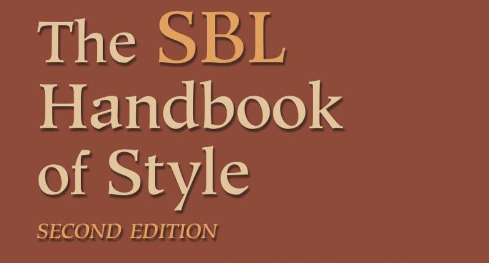 Title portion of the SBL Handbook of Style cover, 2nd edition
